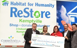 Commonwell cheque presention to Habitat